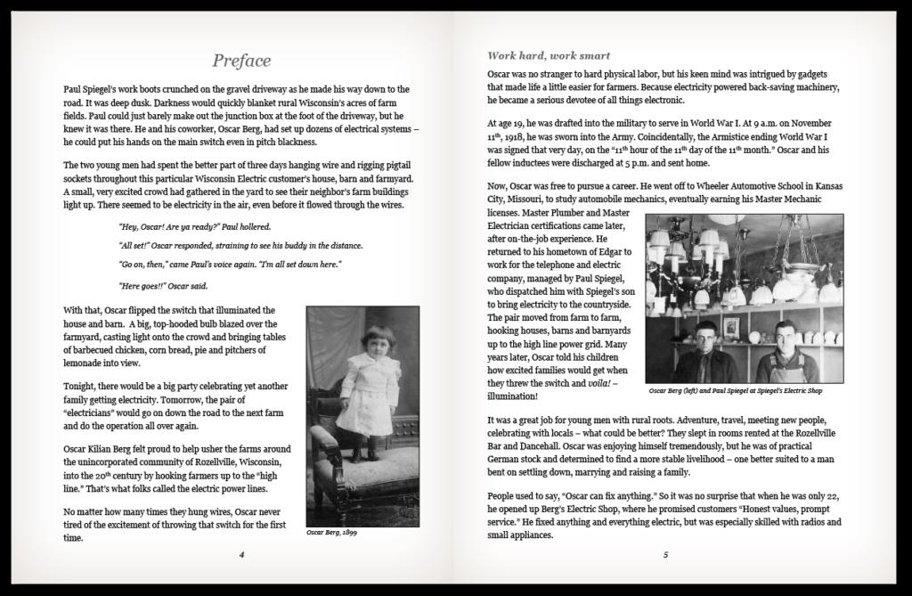 Berg Biography Excerpt
