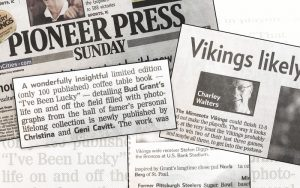 Bud Grant Newspaper feature with Cavitt Productions
