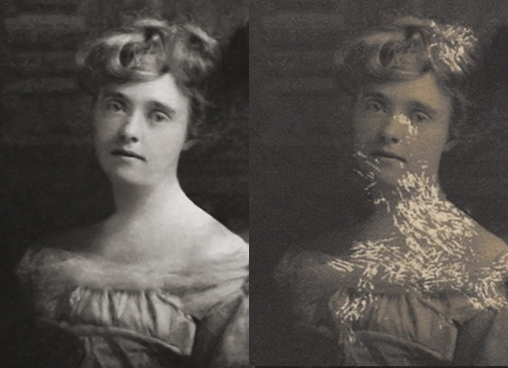 Detail-Photo Restoration of Young Ladies From the Early 1900's